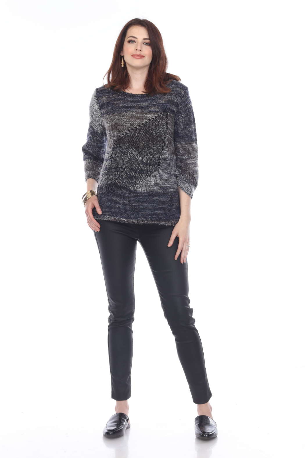 sisters Leaf Pullover Sweater - Front Cropped Image