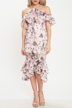Shoptiques Product: Leaf Ruffle Dress