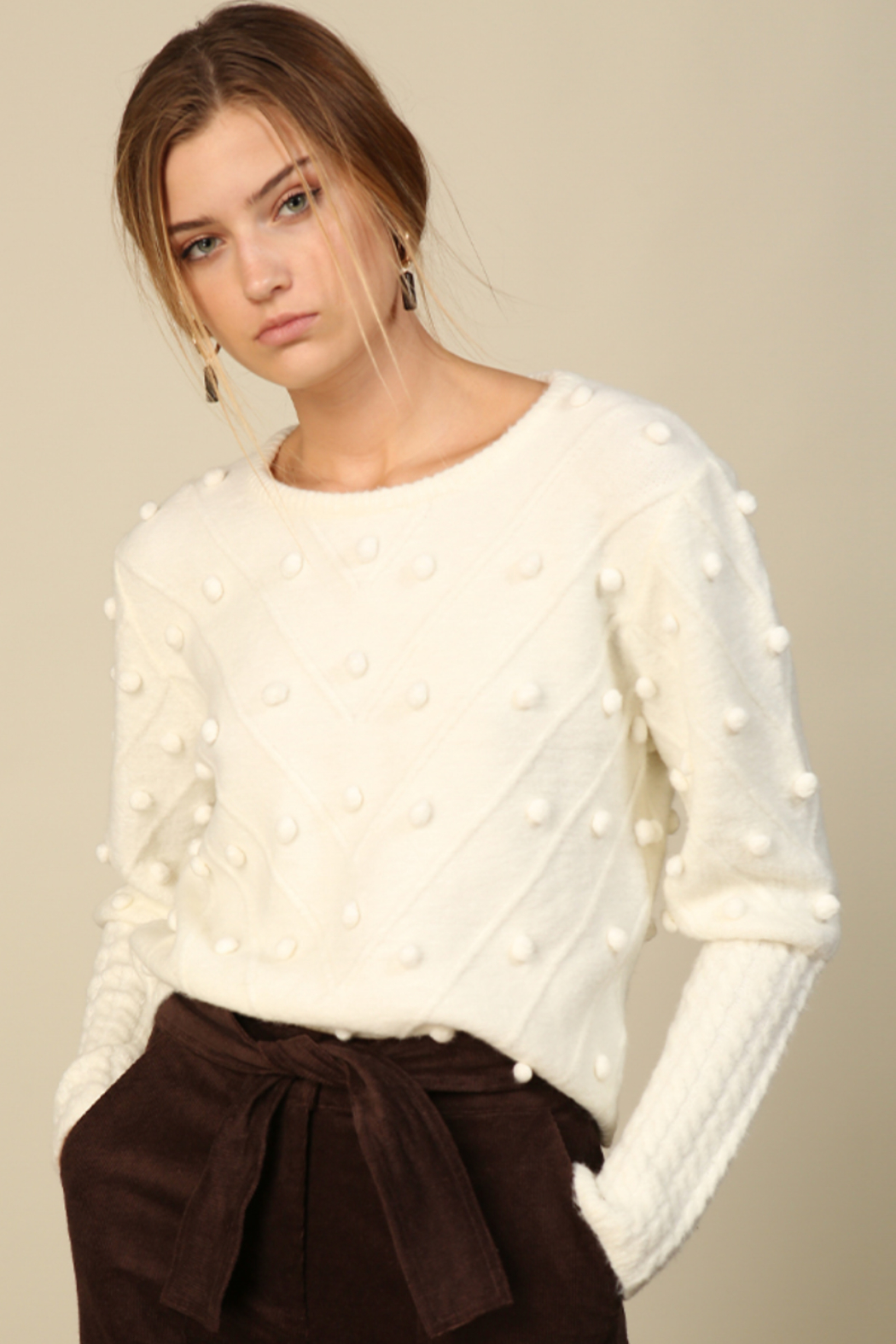 Line & Dot Leah Sweater - Side Cropped Image
