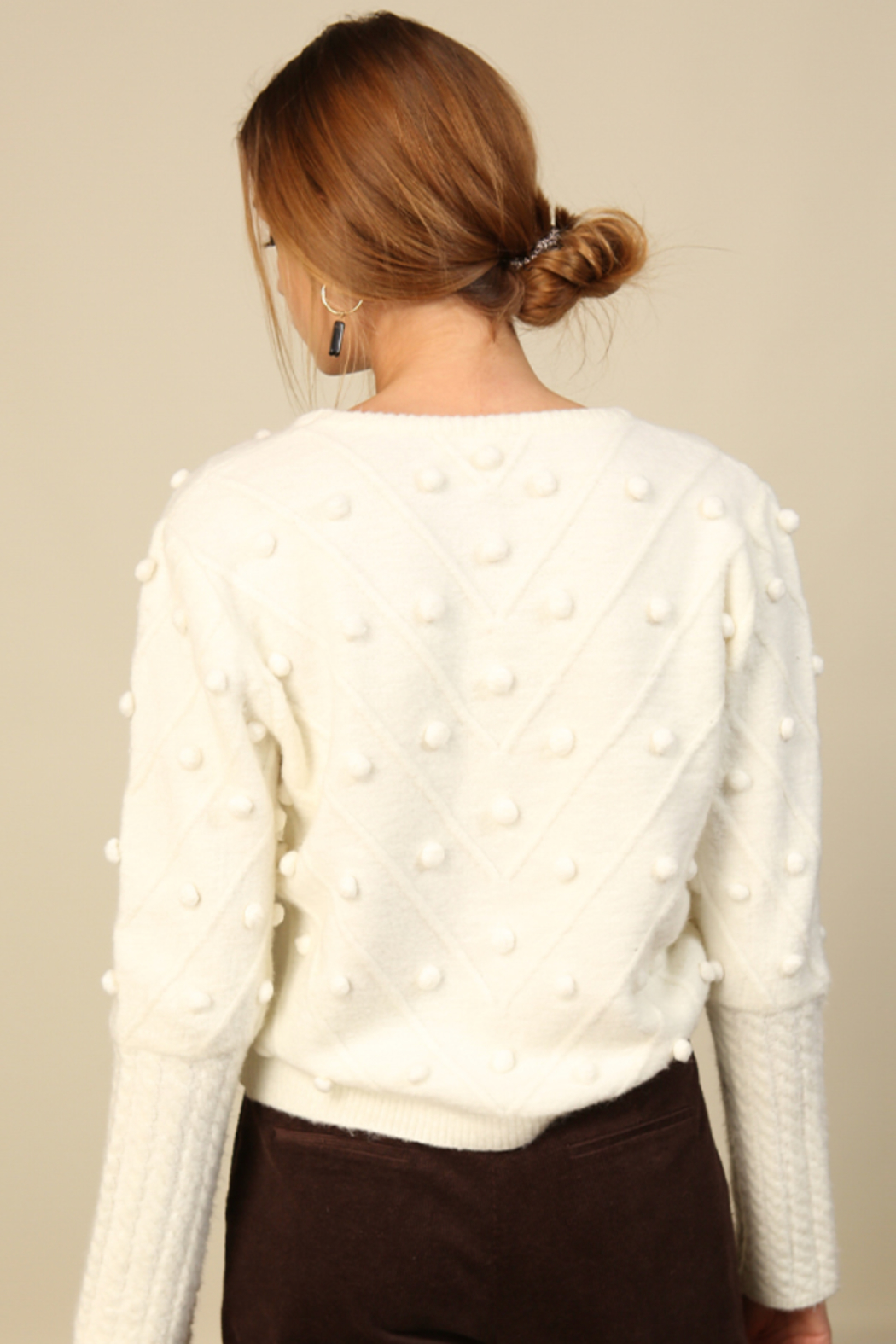 Line & Dot Leah Sweater - Back Cropped Image
