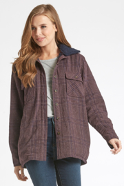 Dear john  Leann Sherpa Lined Reversible Jacket - Product Mini Image