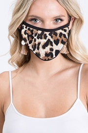 Sunday Morning  Leapard Print Cotton Mask - Product Mini Image