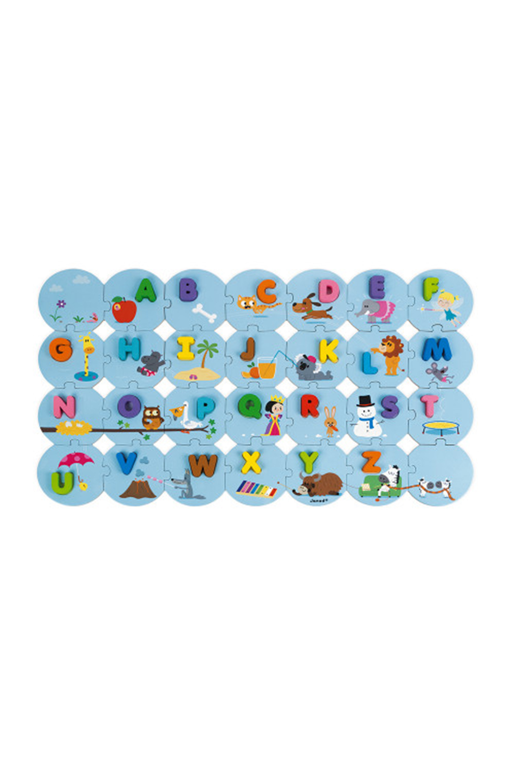 Janod Learn The Alphabet Giant Puzzle - Front Full Image