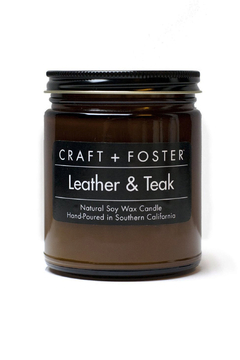 Craft and Foster Leather and Teak Candle - Alternate List Image