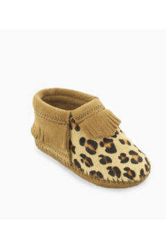 Minnetonka Leather Baby Leopard Moccasins - Product List Image