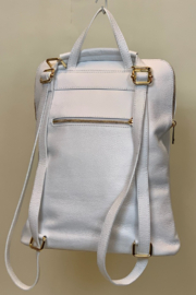 GERMAN FUENTES LEATHER BACK PACK - Back cropped