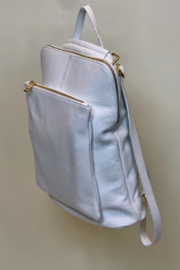 GERMAN FUENTES LEATHER BACK PACK - Front full body