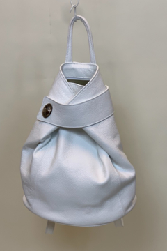 GERMAN FUENTES LEATHER BAG WHITE - Product List Image