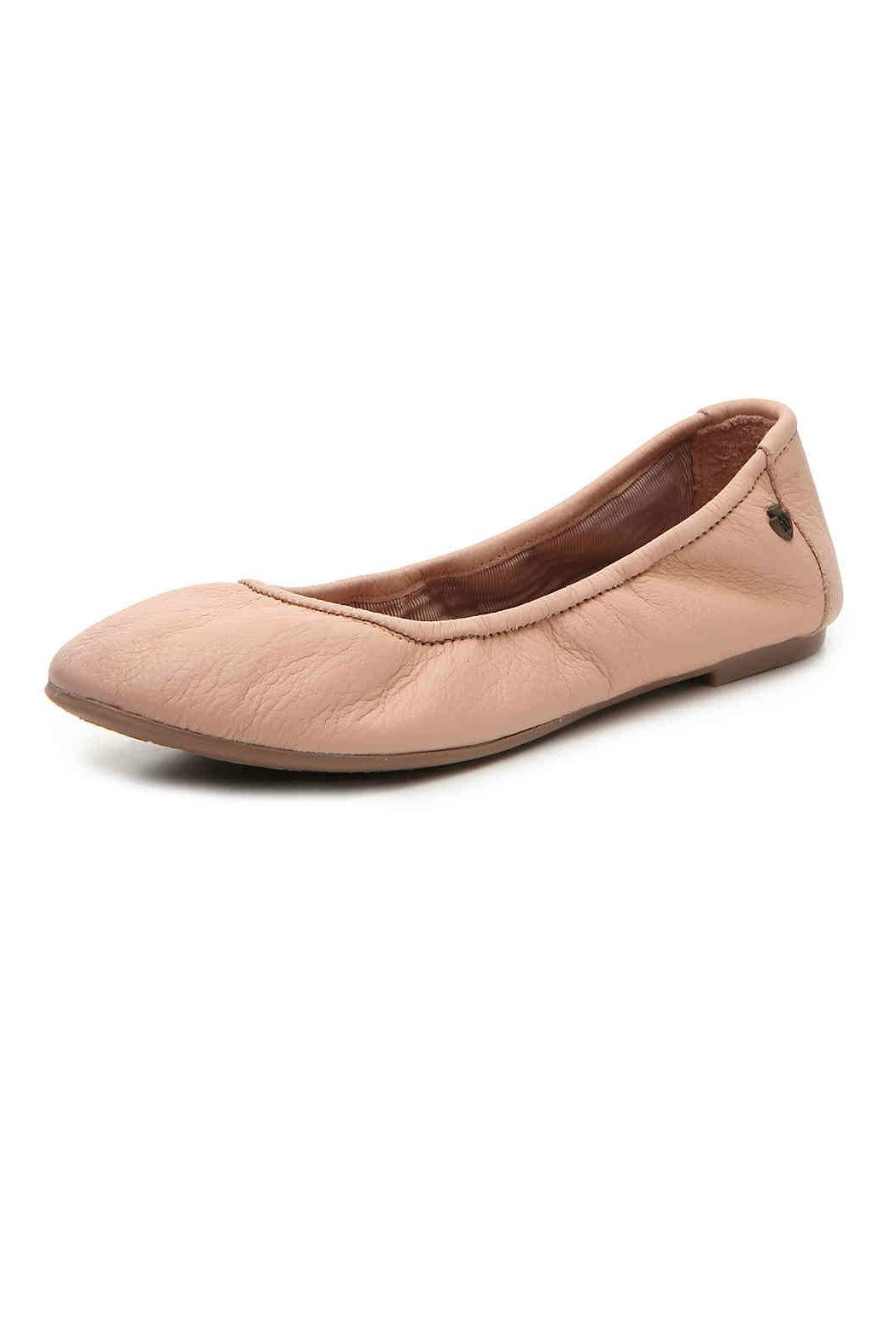Minnetonka Leather Ballet Flat - Front Cropped Image