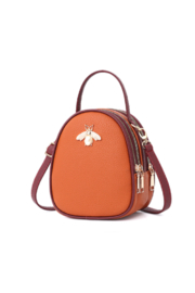 The Birds Nest LEATHER BEE BAG - Front cropped