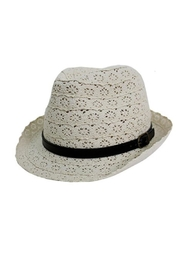 Cap Zone Leather-Belt Fashion Fedora - Product Mini Image