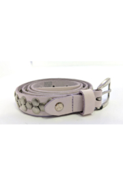 DiJore Leather belt with metal embellishments - Product Mini Image