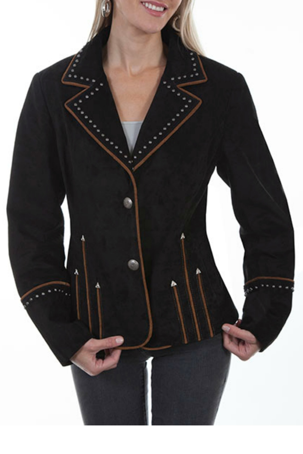 Scully Leather Blazer - Main Image