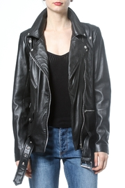 Madonna & Co Leather Boyfriend Jacket - Product Mini Image