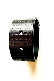 Love's Hangover Creations Leather Bracelet - Front full body