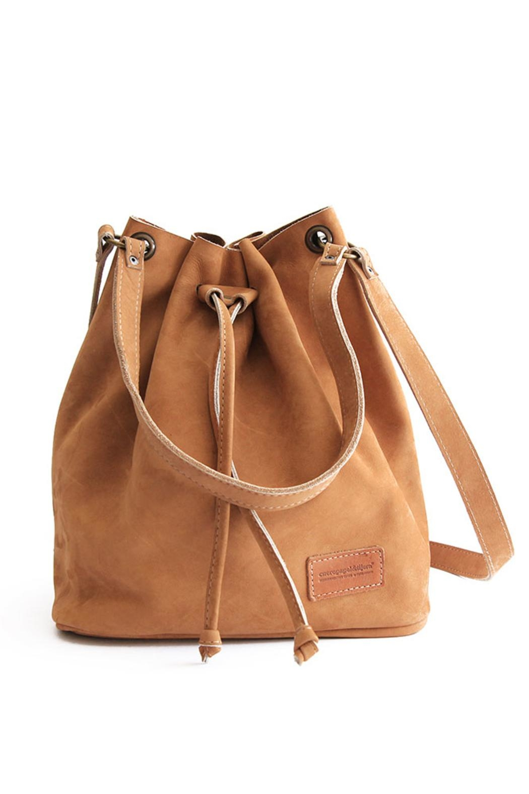 cueropapel&tijera Leather Bucket Bag - Front Cropped Image