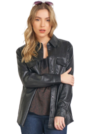 Dex Leather Button Up - Product Mini Image