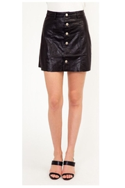 Polly & Esther Leather Button-Up Skirt - Product Mini Image