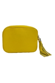 Leather Country Leather Clutch Tassel - Front full body