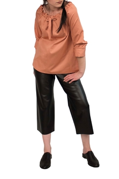 Helena Jones Leather Cropped Pants - Alternate List Image