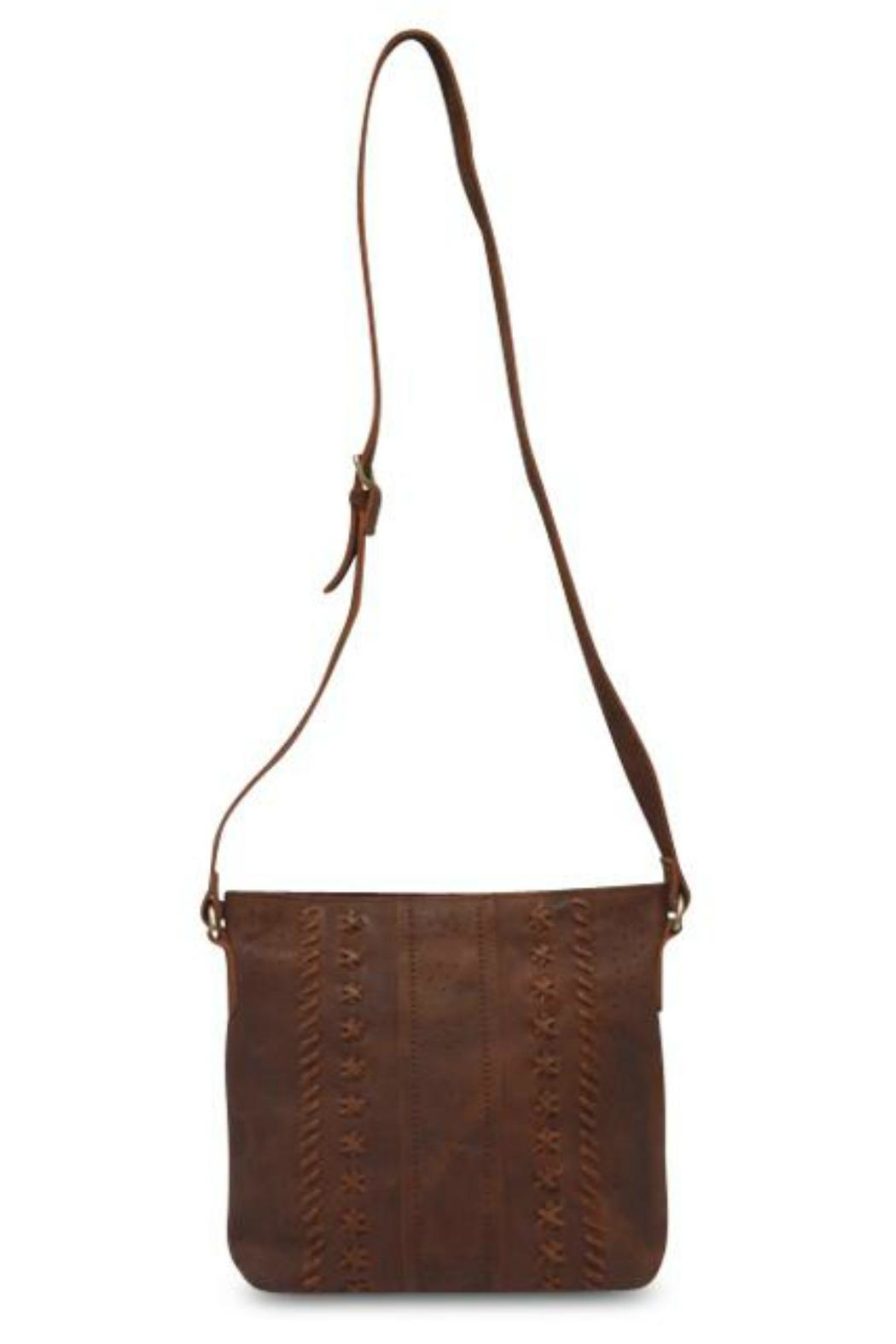 MHGS Leather Crossbody Bag - Back Cropped Image