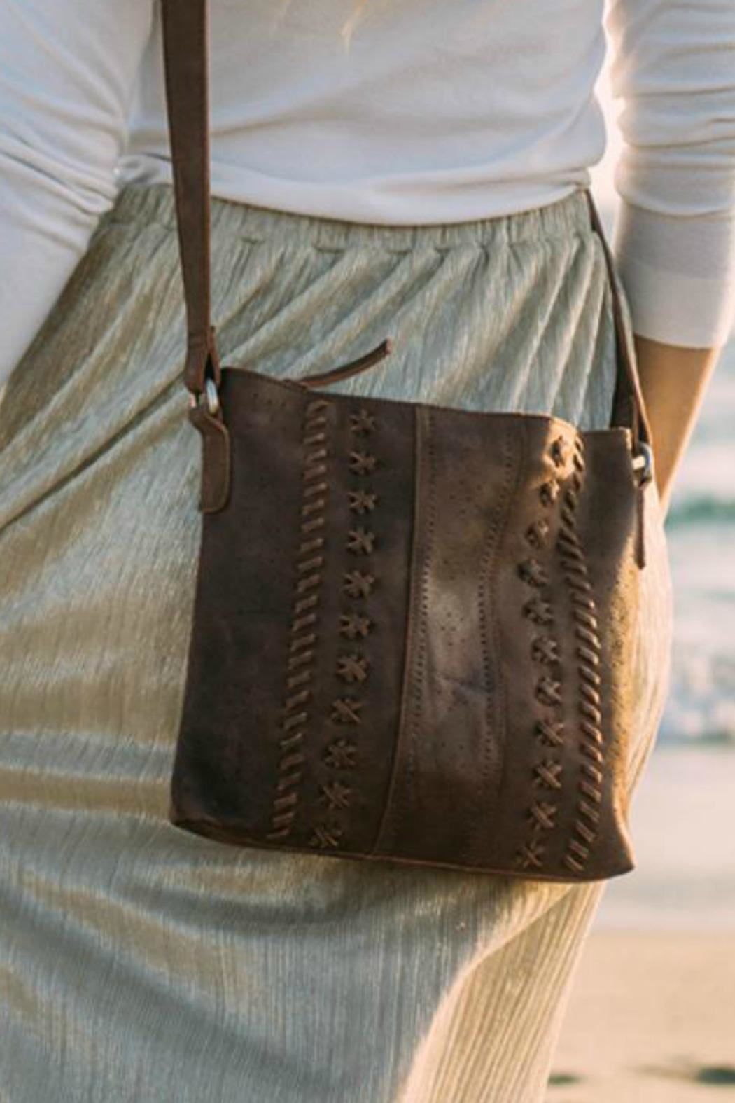 MHGS Leather Crossbody Bag - Side Cropped Image