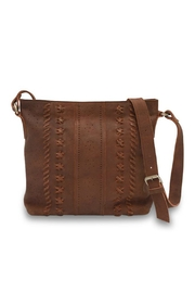 MHGS Leather Crossbody Bag - Front full body