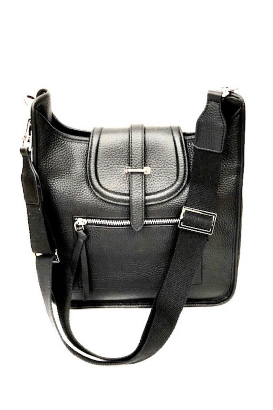 INZI  Leather Crossbody or Shoulder Bag - Front Cropped Image