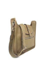 INZI  Leather Crossbody or Shoulder Bag - Front full body