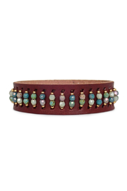Bronwen Leather Cuff - Front cropped