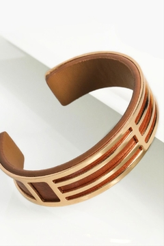 Shoptiques Product: Leather Cuff Bracelet