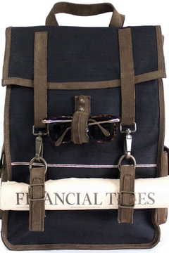 kjore project Leather/denim Survey Backpack - Alternate List Image