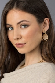 Spartina 449 Leather Earrings - Front full body