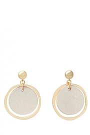Spartina 449 Leather Earrings - Front cropped