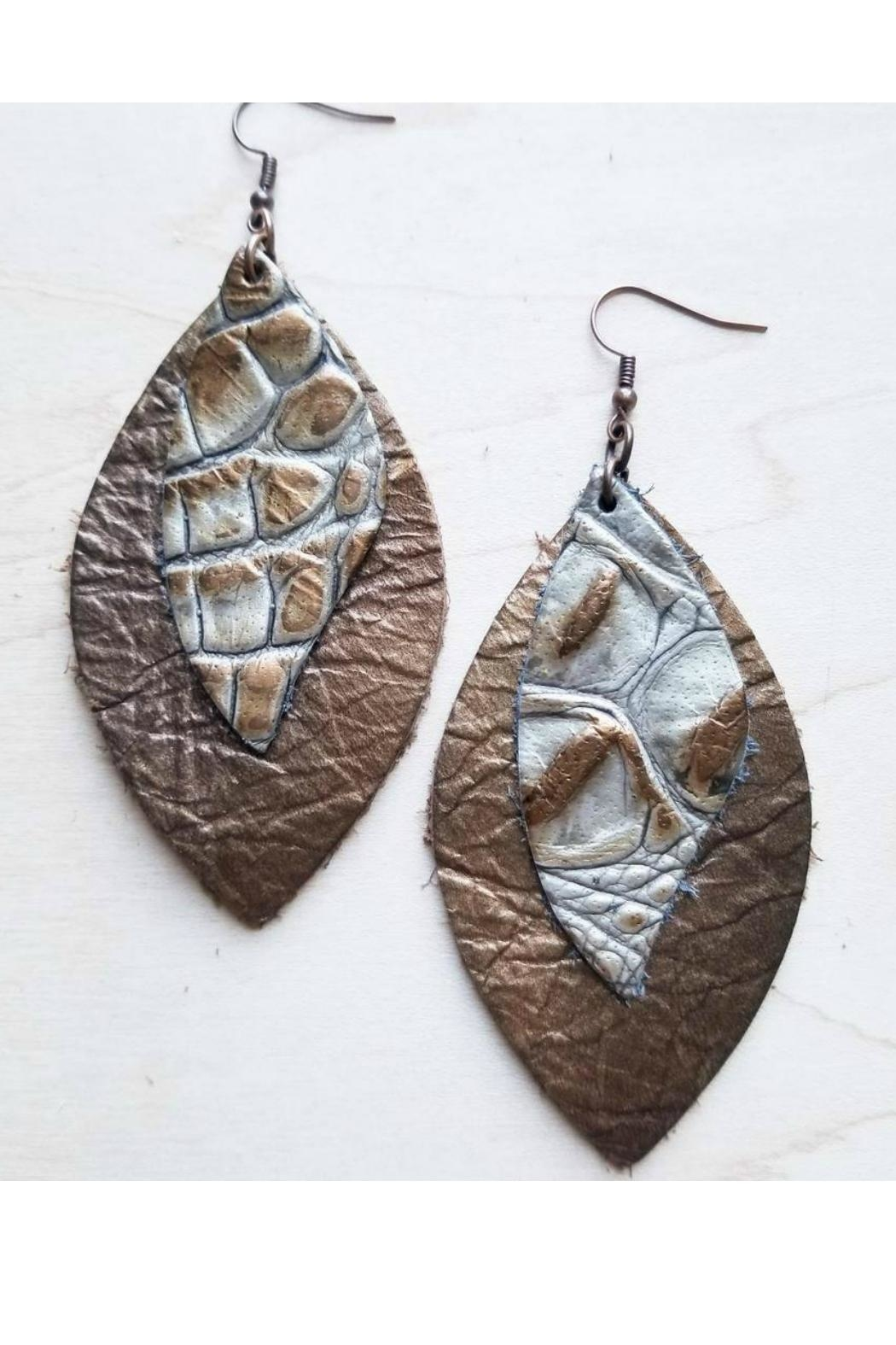 The Jewelry Junkie Leather Earrings Oval Front Cropped Image
