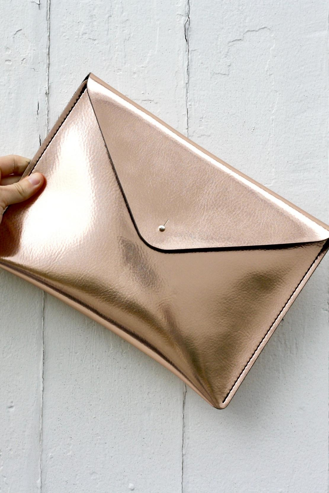 The Leather Satchel Company Leather Envelope Clutch - Main Image