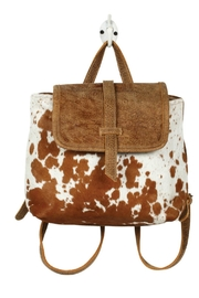 Myra Bags Leather Flap Hairon - Product Mini Image