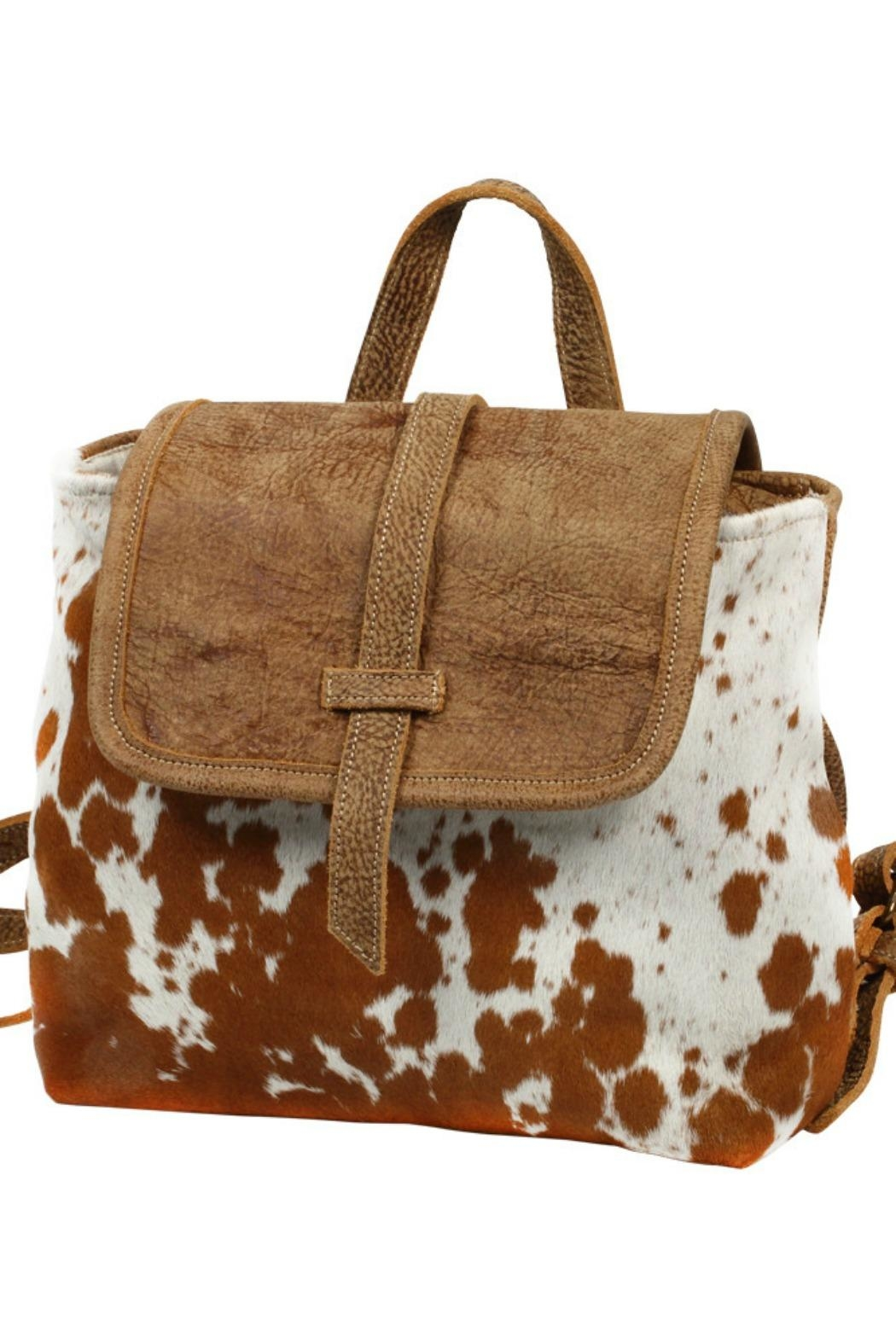 Myra Bags Leather Flap Hairon - Side Cropped Image