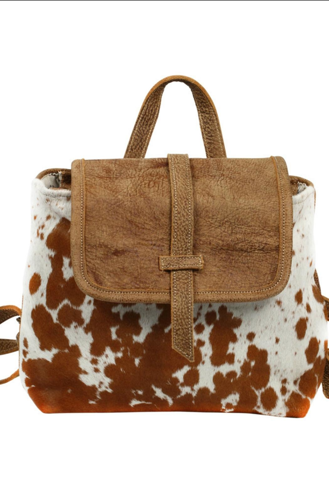 Myra Bags Leather Flap Hairon - Front Full Image