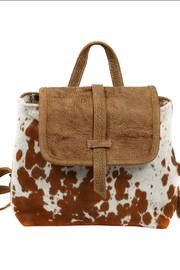 Myra Bags Leather Flap Hairon - Front full body
