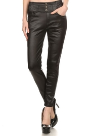 Kathy Leather Fleece-Lined Pants - Product Mini Image