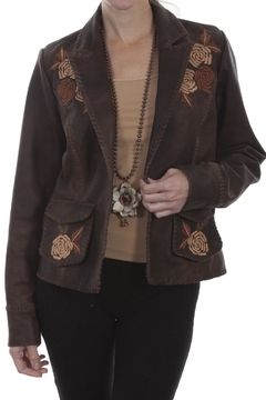 Scully Leather Floral Blazer - Product List Image