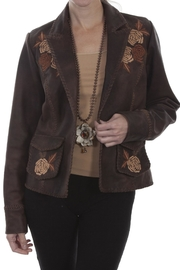 Scully Leather Floral Blazer - Product Mini Image