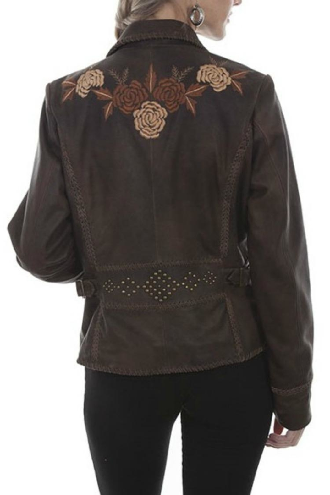 Scully Leather Floral Blazer - Front Full Image