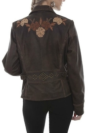 Scully Leather Floral Blazer - Front full body