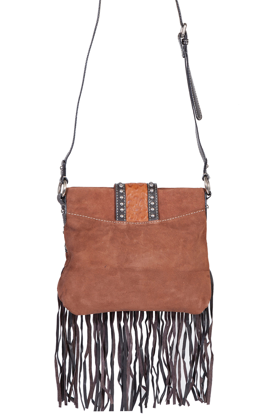 Scully  Leather Fringe Bag - Front Full Image