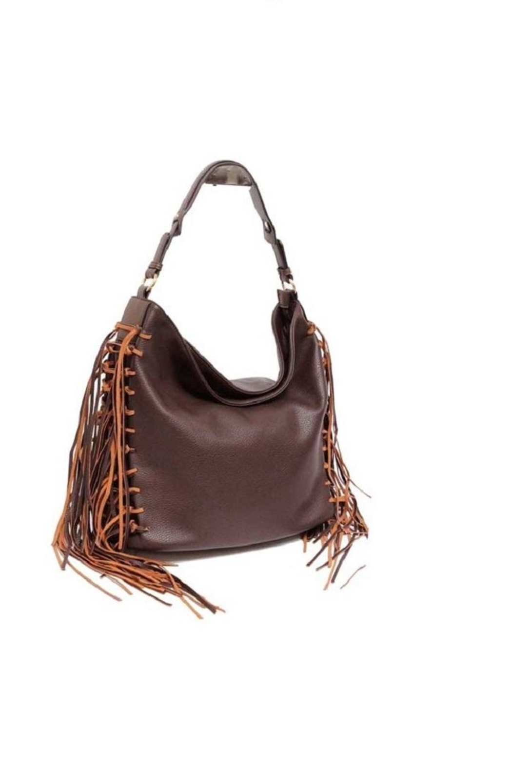 a186c789ce6c MC Handbags Leather Fringe Hobo from Saratoga by Laura M — Shoptiques