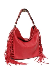 MC Handbags Leather Fringe Hobo - Product Mini Image
