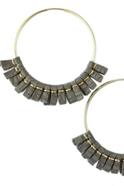 Helene Jewelry Leather Fringe Hoops - Product Mini Image