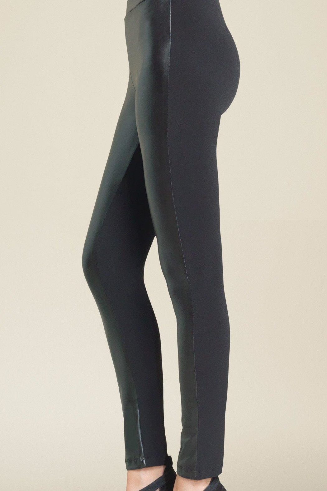 897d4dd800d1fa Clara Sunwoo Leather Front Leggings from Iowa by Elegance Boutique ...